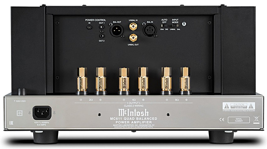 McIntosh MC611 backview