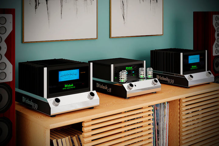 McIntosh MC830 solid state amplifier und C8 Preamplifier